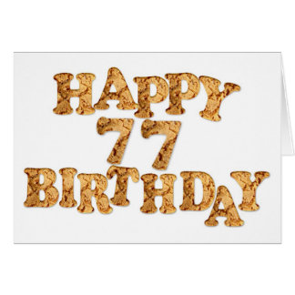 77th Birthday card for a cookie lover