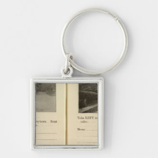 78285 Tarrytown, Ossining Silver-Colored Square Key Ring