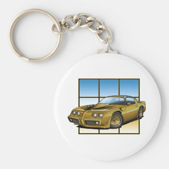 78-81 SE Trans Am Basic Round Button Key Ring