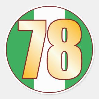78 NIGERIA Gold Classic Round Sticker