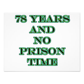 78 No prison time Invites