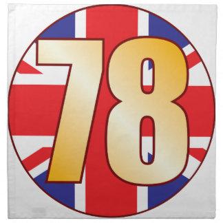 78 UK Gold Napkin