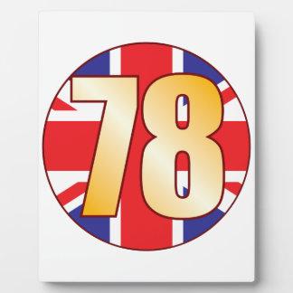 78 UK Gold Plaque