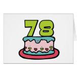 78 Year Old Birthday Cake Greeting Card