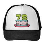 78 Year Old Birthday Cake Mesh Hat