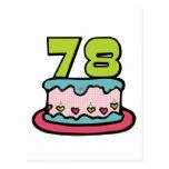 78 Year Old Birthday Cake Post Card