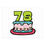 78 Year Old Birthday Cake Postcard