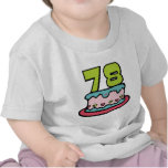 78 Year Old Birthday Cake T Shirts