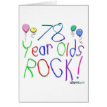 78 Year Olds Rock! Greeting Card