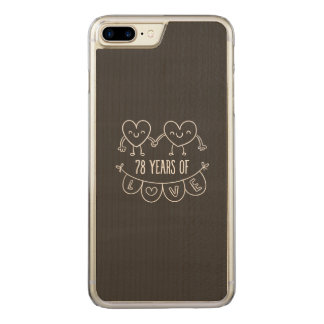 78th Anniversary Chalk Hearts Carved iPhone 8 Plus/7 Plus Case
