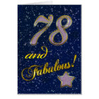 78th birthday for someone Fabulous Card
