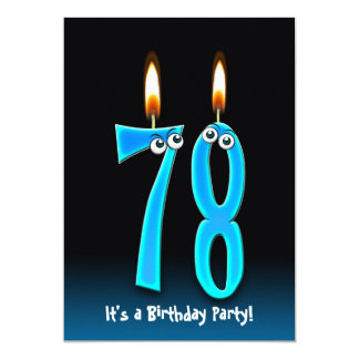 78th Birthday Party Invite