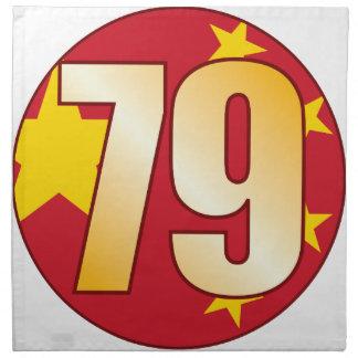 79 CHINA Gold Napkin