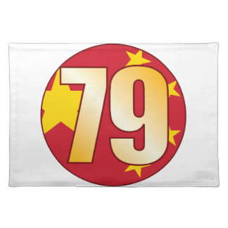 79 CHINA Gold Placemat