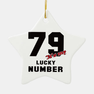 79 It's my lucky number Ceramic Star Decoration