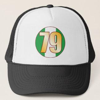 79 NIGERIA Gold Trucker Hat