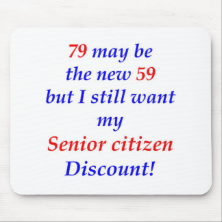 79 Senior Citizen Mouse Mat