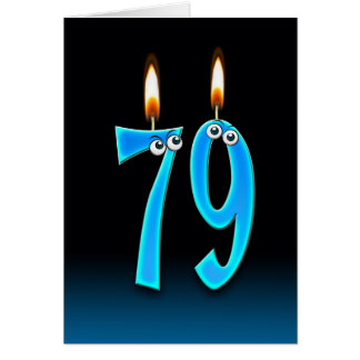 79th Birthday Candles Greeting Card