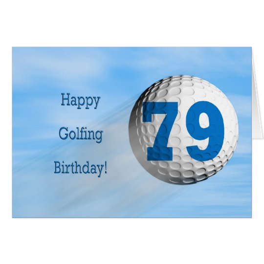 79th birthday golfing card