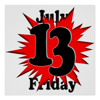 7-13 Friday the 13th Print