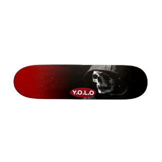"7 1/4"" Yolo Skull Skateboard deck design"
