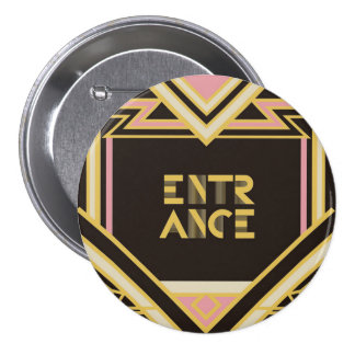 7.6cm Can batch [Art Deco] 7.5 Cm Round Badge