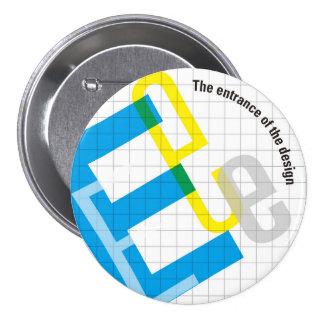 7.6cm Can batch [Grid] 7.5 Cm Round Badge