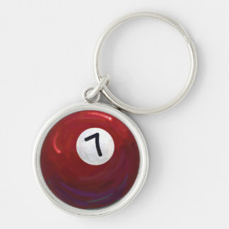7 Ball Silver-Colored Round Key Ring