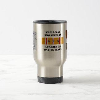 7 BATTLE STARS / WORLD WAR II VETERAN COFFEE MUGS