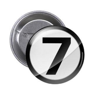 7 black 6 cm round badge