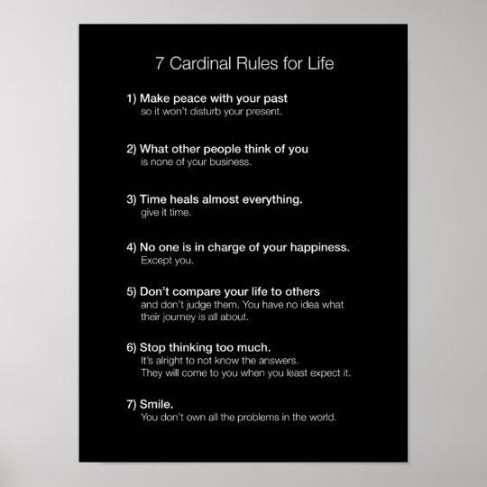 Cardinal Rules For Life Poster R E Fbc D A A E Ceedf Fb Wve Byvr