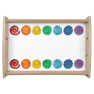 7 Chakra #1 Rainbow Artwork Serving Tray