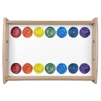 7 Chakra #2 Rainbow Artwork Serving Tray