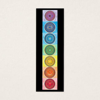 7 Chakra Mandala Mini Business Cards