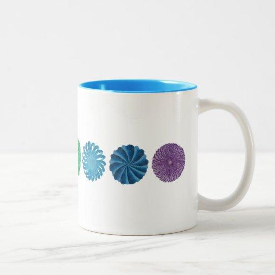 7 Chakras #1 Clearing Artwork Two-Tone Coffee Mug