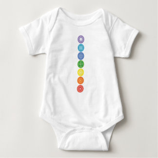 7 Chakras Baby Bodysuit