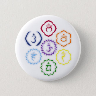 7 Chakras in a Circle 6 Cm Round Badge