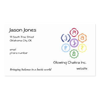 7 Chakras in a Circle Double-Sided Standard Business Cards (Pack Of 100)