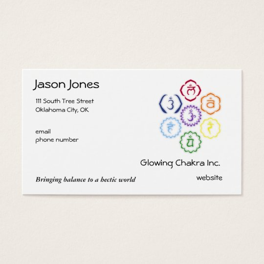 7 Chakras in a Circle Business Card