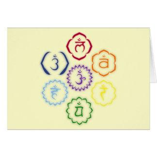 7 Chakras in a Circle Greeting Card