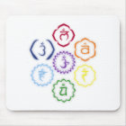 7 Chakras in a Circle Mouse Mat