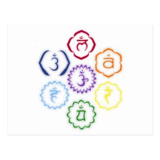 7 Chakras in a Circle Post Card