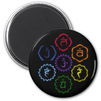 7 Chakras in a Circle Refrigerator Magnet