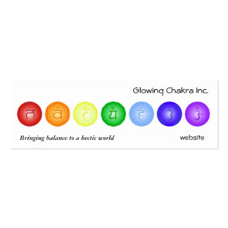 7 Chakras in a Line Pack Of Skinny Business Cards