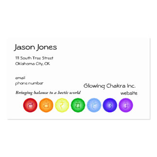 7 Chakras in a Line Pack Of Standard Business Cards