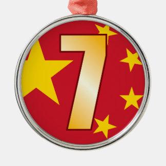 7 CHINA Gold Christmas Ornament