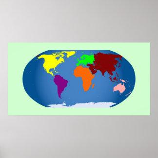 7 Continents Canvas Print