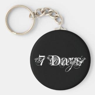 7 Days Basic Round Button Key Ring