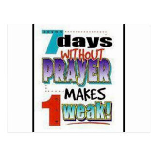 7 Days Without Prayer Post Card