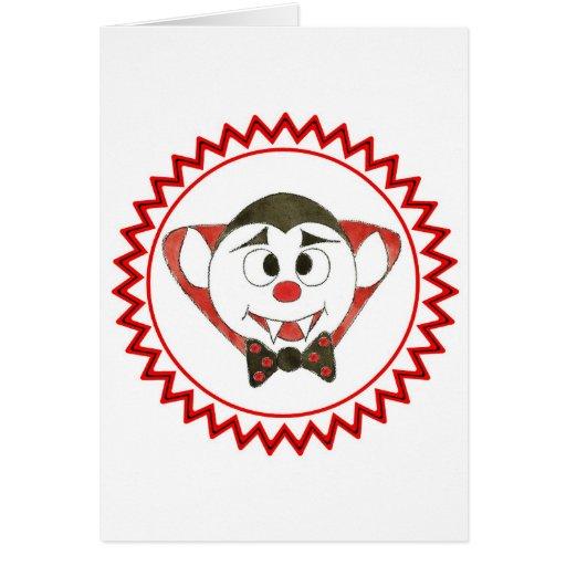 7 Dracula zig zag.jpg Greeting Cards